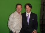 Douglas Vermeeren & Dr. John Demarinti on the set of the Gratitude Experiment