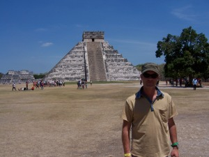 Douglas Vermeeren at the ruins of Chichen Itza Mexico