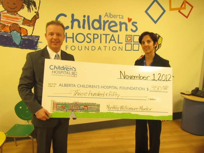Monthly Millionaire Mentor Supports Alberta Children's Hospital