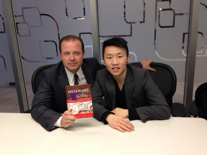 Douglas Vermeeren and Chaky Ling with the new book Millionaire Wisdom