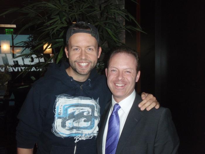 Comedian/actor Kyle Cease with Millionaire Mentor, Douglas Vermeeren