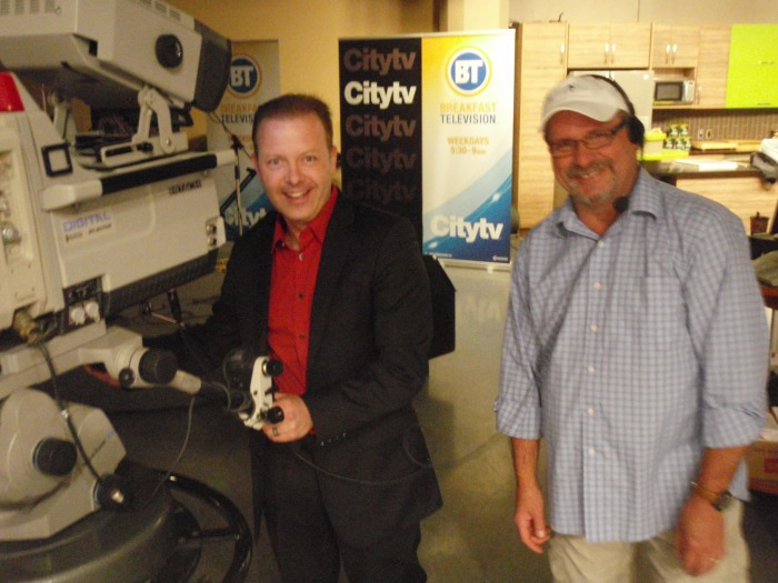 Douglas Vermeeren having fun on the set of CITY TV Edmonton
