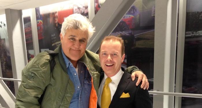 Jay Leno and Douglas Vermeeren Backstage