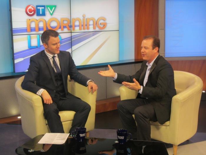 Millionaire Mentor Douglas Vermeeren live on CTV morning Live - Edmonton