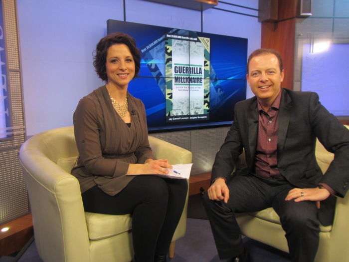 Marni Kuhlmann and Douglas Vermeeren on the CTV noon show - Edmonton