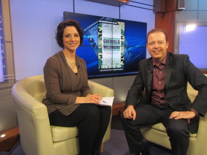 Marni Kuhlmann and Douglas Vermeeren on the CTV noon show - Edmonton