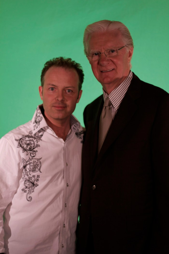 Douglas Vermeeren and Bob Proctor on the set of the new movie the Gratitude Experiment