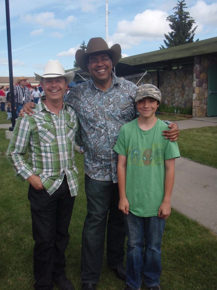 Millionaire Mentor Douglas Vermeeren, Calgary Mayor Naheed Nenshi and Jared Vermeeren