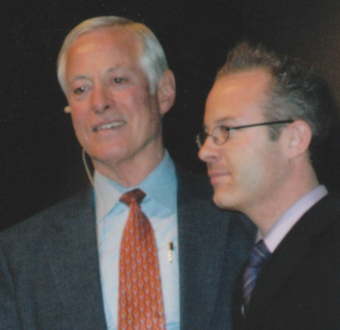 Brian Tracy and Douglas Vermeeren on stage