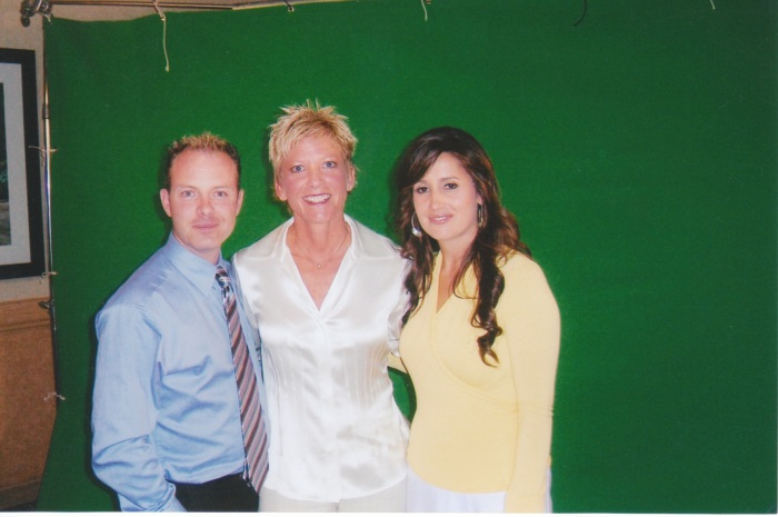 Douglas Vermeeren, Dr.Sue Morter and Holly Vermeeren at the shooting for  The Opus