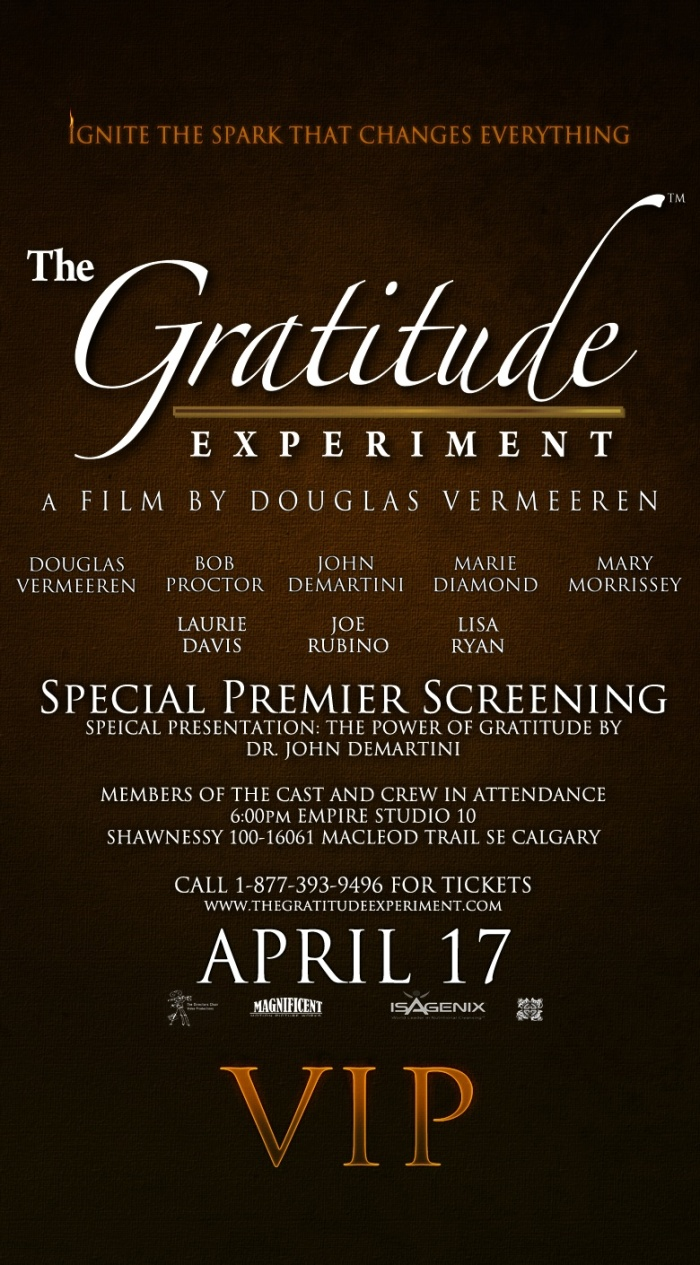 The Gratitude Experiment VIP