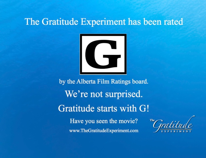 The Gratitude Experiment has been rated!