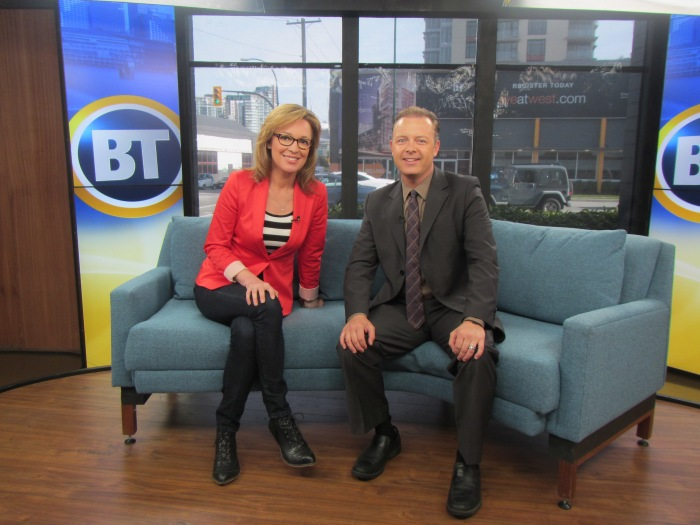 Jodi Vance from City TV Vancouver and Achievement expert Douglas Vermeeren