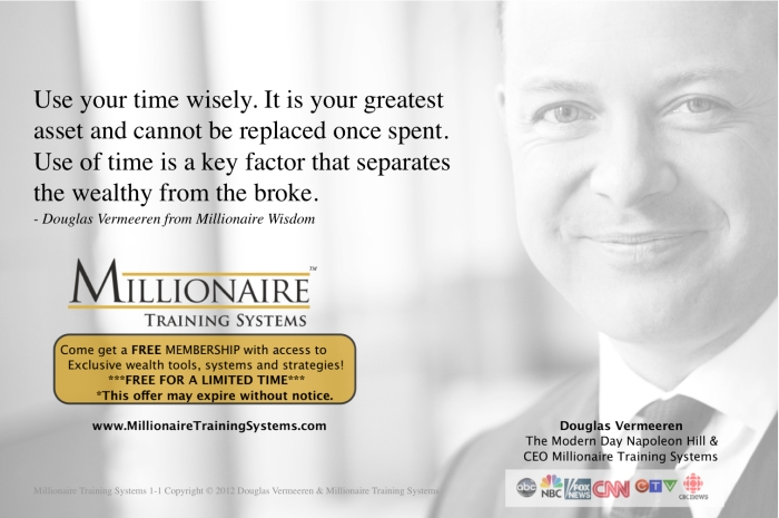 Millionaire Training Systems - Douglas Vermeeren quote 1-1