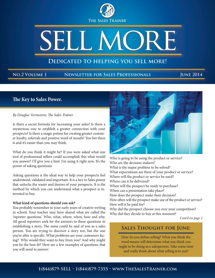 SELL MORE newsletter June
