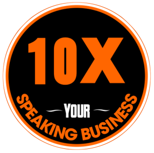 10X your speaking business logo