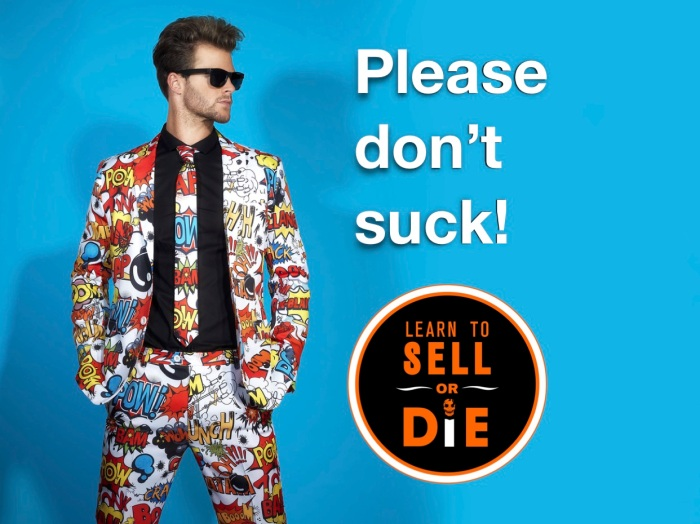 Douglas Vermeeren Learn to sell or die suck suit