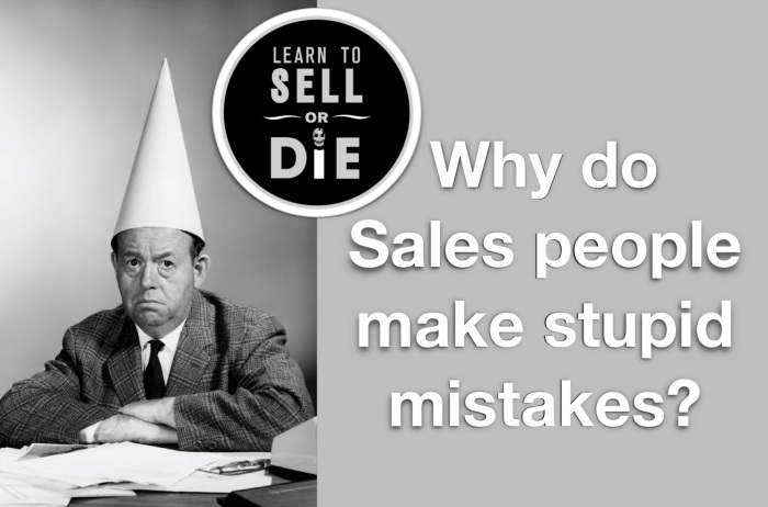 Learn to Sell or Die - Douglas Vermeeren - Mistakes